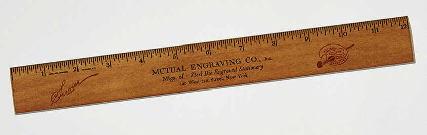 Seven color letterpress ruler from Russell Maret's forthcoming book, <em>Interstices &amp; Intersections</em>.