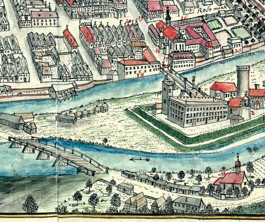 FIG. 4 Map by F.B. Werner, View of the City of Opole (detail) commons.wikimedia.org/wiki/File:Oppeln_F.B._Werner.png