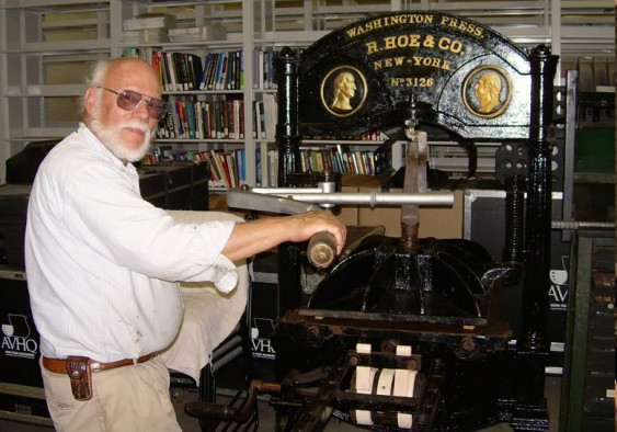 J. J. Lankes' 1845 Hoe Washington Handpress at <a href=