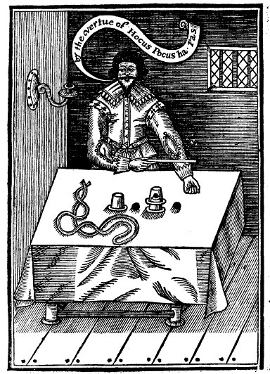 frontispiece from: Hocus Pocus junior. London, 1634