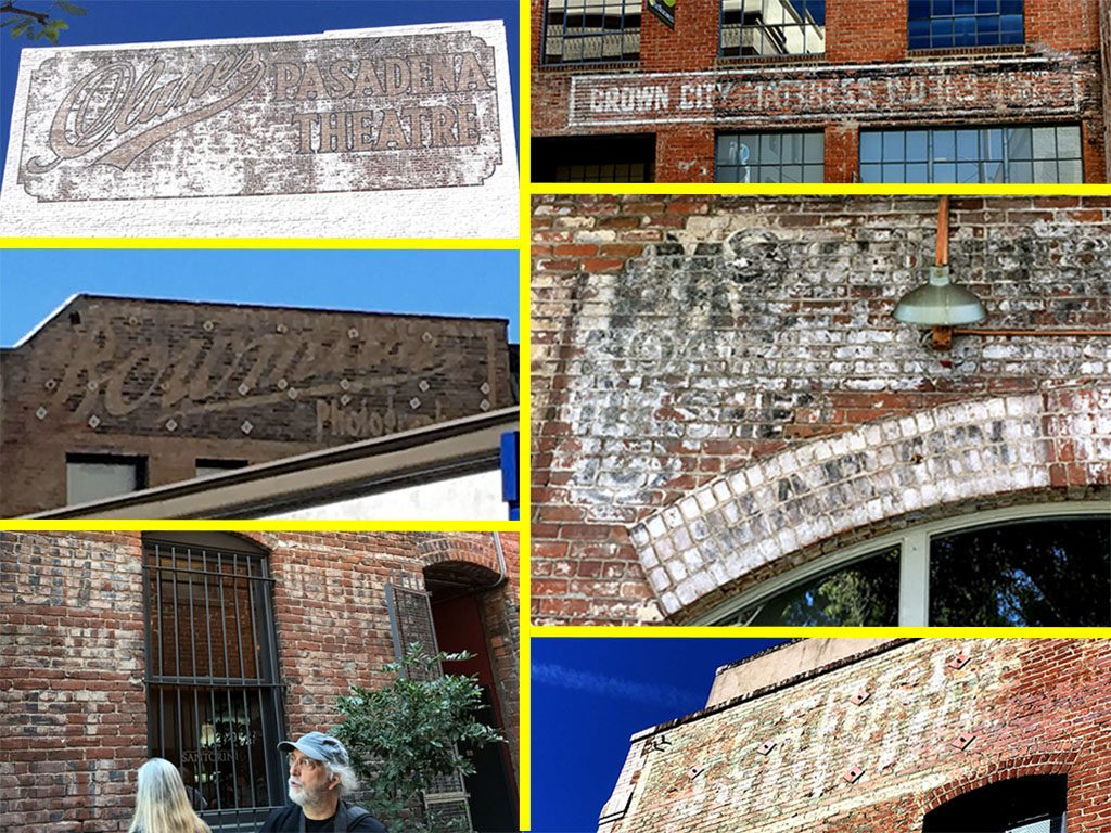 Ghost signs in Old Pasadena. (Barbara Hauser)