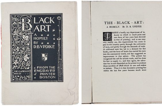 Cover and first page for The Black Art.