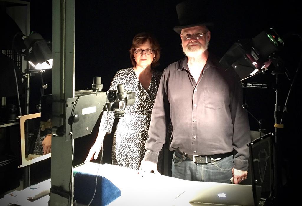 Dr. Laura Stalker, Avery Deputy Director of the Huntington Library and John Sullivan, Head of Imaging