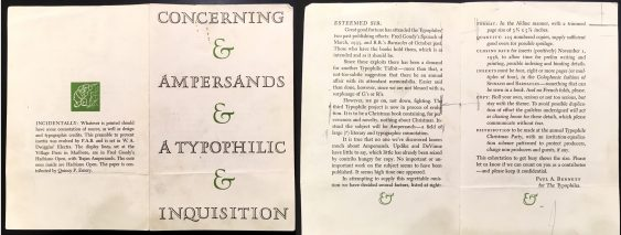 Ampersand publication call for entries, ca. 1935.