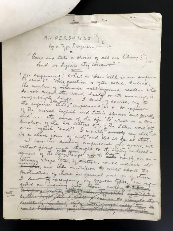 Ampersand manuscript